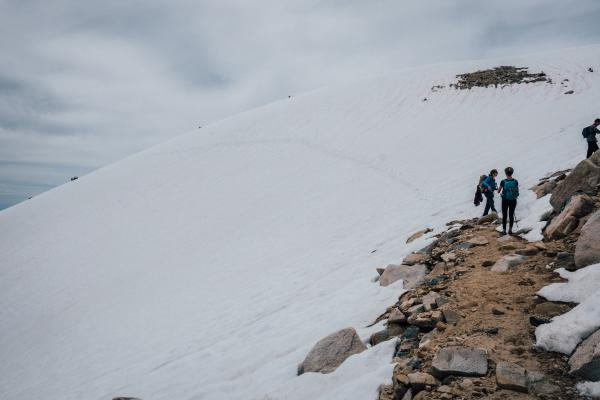after the switchbacks we also cut straight up instead of hiking that snow.